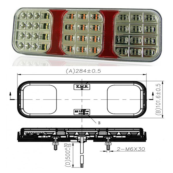 PILOTO KMR 5 FUNC. 36 LED. POS/FRE/ANT/INT/M. A.