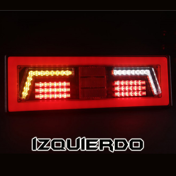 PILOTO KMR 7 FUNC. LED RECTANGULAR IZQ.